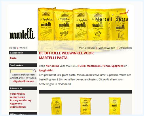 Martelli pasta Nederland